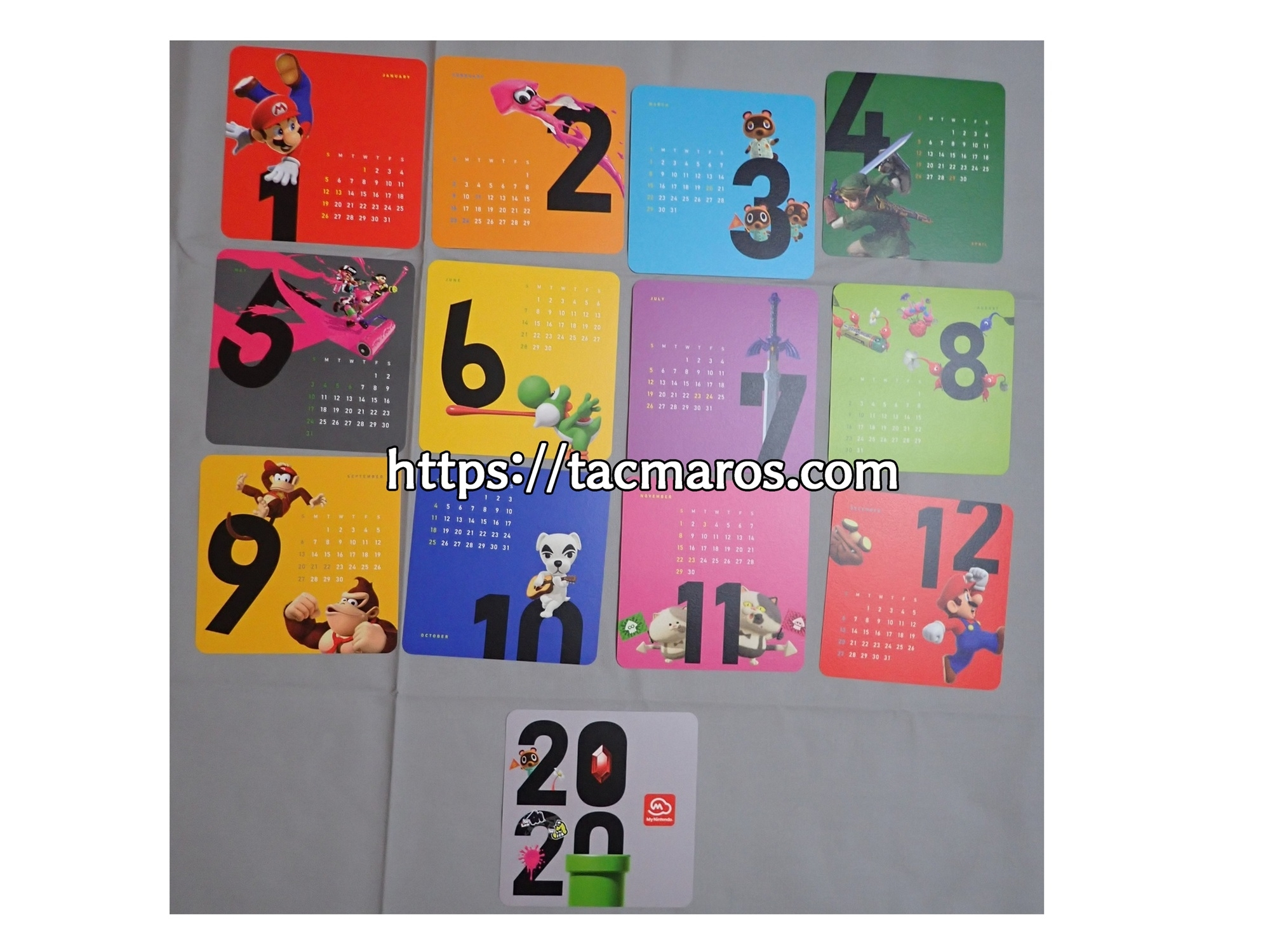 マイニンテンドープラチナポイント交換グッズ マイニンテンドーオリジナルカレンダー2020 十二か月分全ての写真一覧