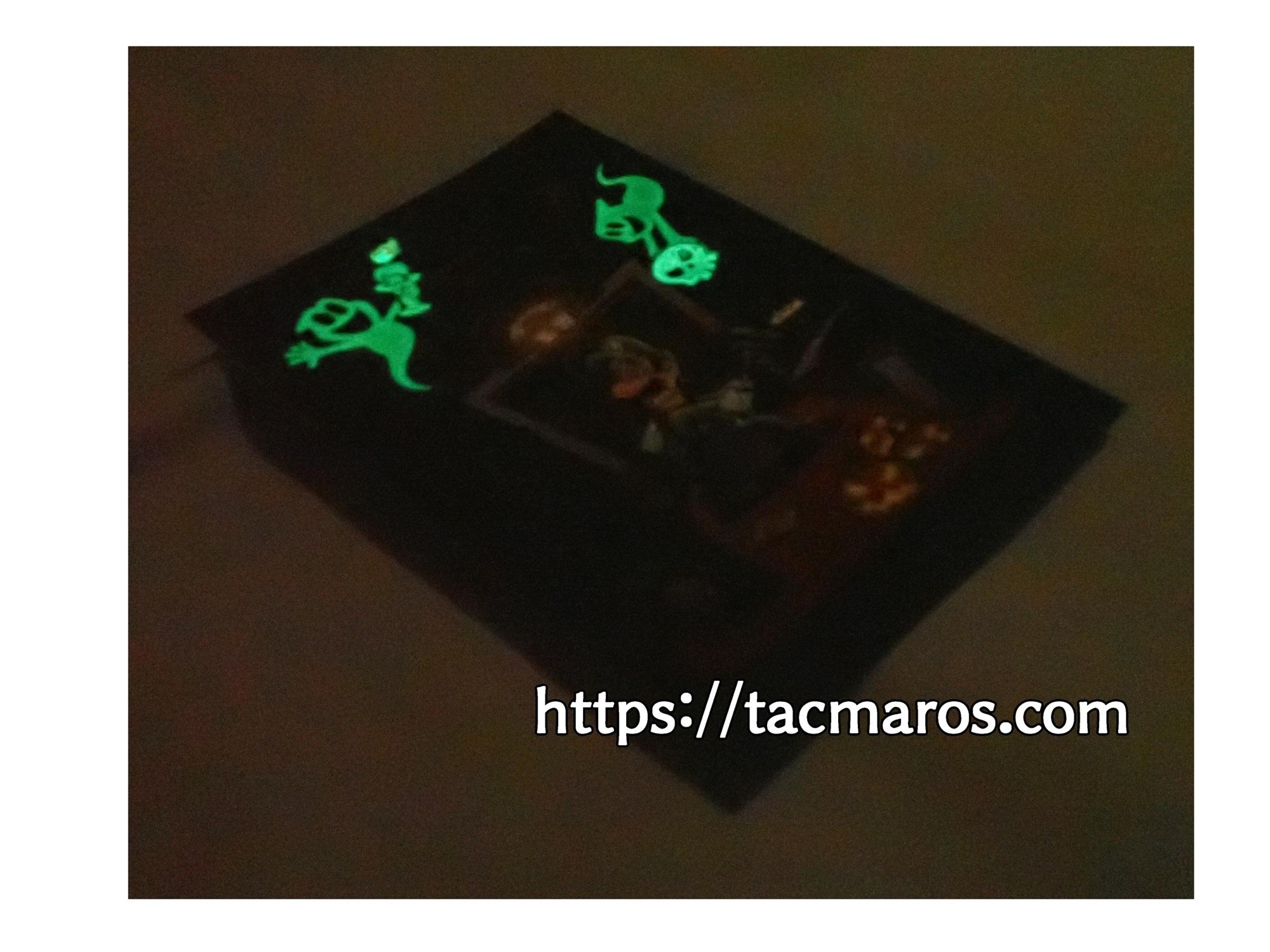 マイニンテンドープラチナポイント交換グッズ ルイージマンション3 蓄光ポストカード 蛍光灯などで光を溜めれば暗闇で光る