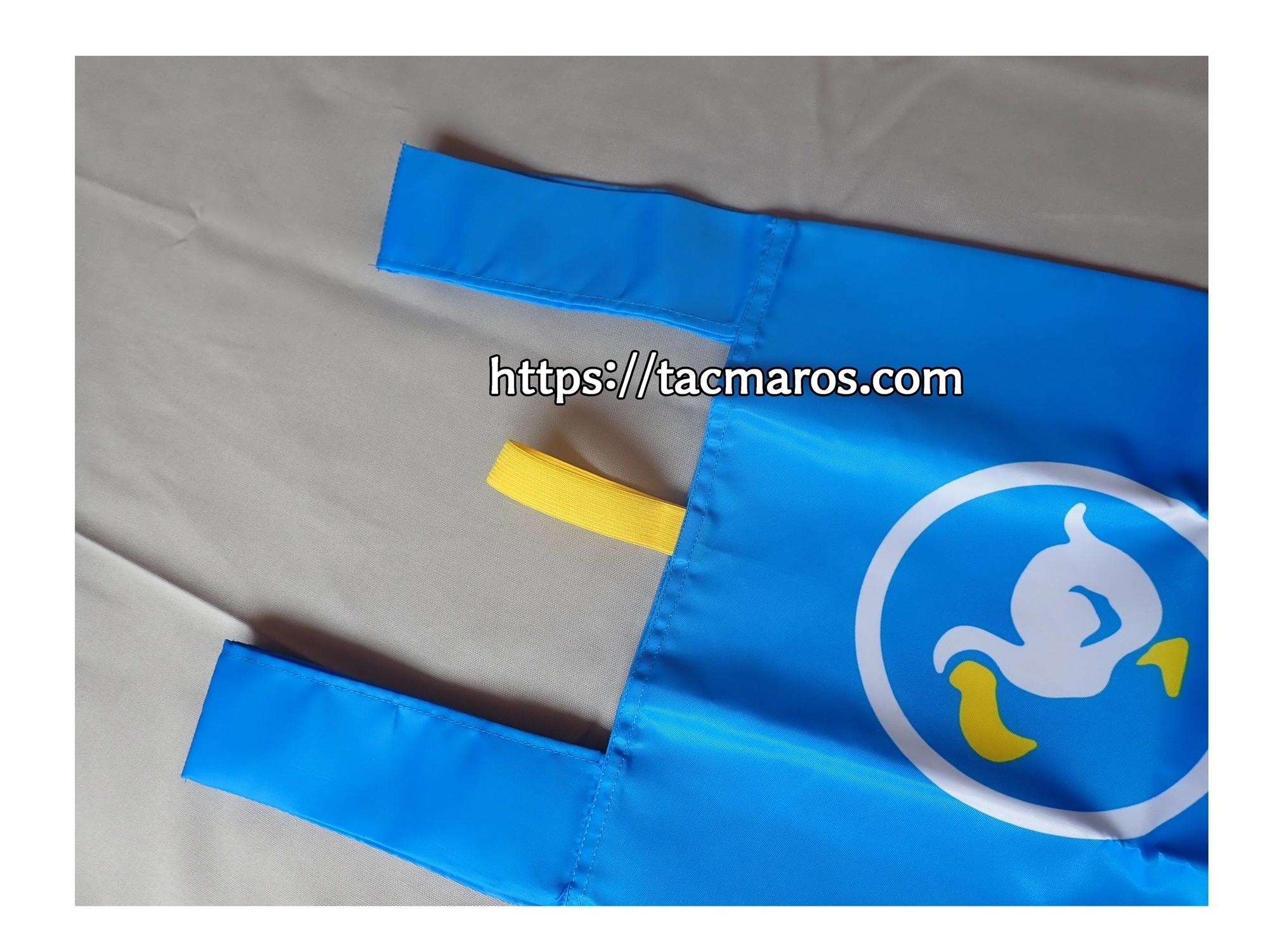 マイニンテンドープラチナポイント交換グッズ あつまれ どうぶつの森 エコバッグ 黄色いゴムはなぜついているのか 使用方法
