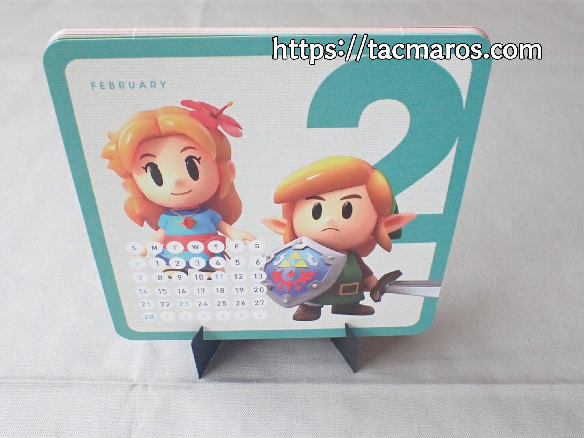 My Nintendo マイニンテンドーオリジナルカレンダー2021 台座にセットした使用風景写真